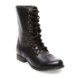 Steve Madden Troopa Black Combat Boots